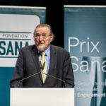 Hans Naef, Praesident Fondation Sana, bei der Verleihung des Prix Sana 2017 in Luzern am 2. Dezember 2017. Fotografiert von Thomas Hodel.