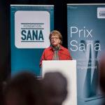 Margrit Stadler, von der Fondation Sana, bei der Verleihung des Prix Sana 2017 in Luzern am 2. Dezember 2017. Fotografiert von Thomas Hodel.