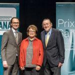 Marco Schmidiger, Margrit Stadler und Hans Naef, L-R, alle Fondation Sana, bei der Verleihung des Prix Sana 2017 in Luzern am 2. Dezember 2017. Fotografiert von Thomas Hodel.