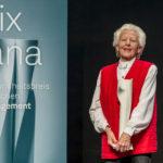 Die Gewinnerin Ursula Tarnutzer bei der Verleihung des Prix Sana 2017 in Luzern am 2. Dezember 2017. Fotografiert von Thomas Hodel.